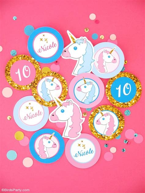 printable birthday supplies unicorn birthday party printables supplies birdsparty com