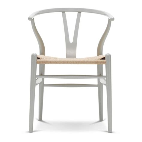 carl hansen son ch wishbone chair silver grey natural paper cord seat