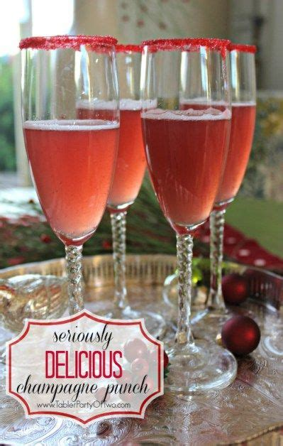 seriously delicious holiday chagne punch punch love