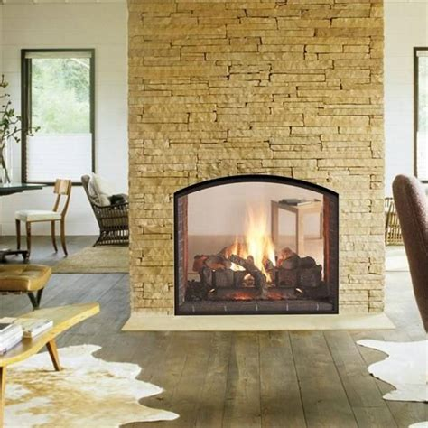 see through fireplace living room ideas