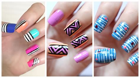 easy nail art for beginners 7 easy nail art for beginners 20 jennyclairefox youtube