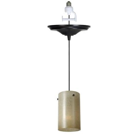 Instant Pendant Light Worth Home Products 1 Light Antique Bronze Instant Pendant Conversion Kit With Linen Glass Shade
