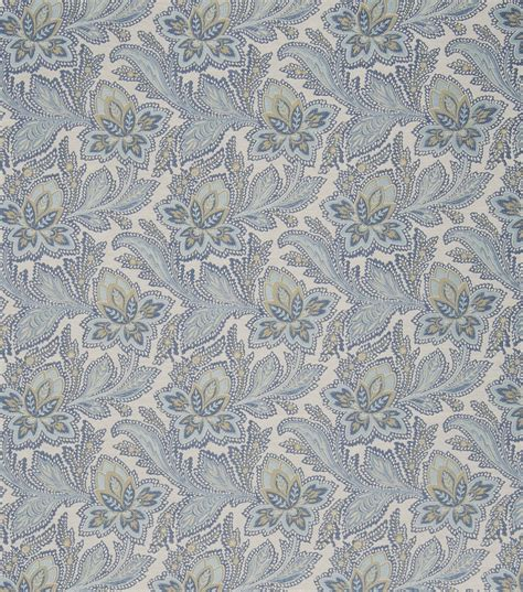 General Upholstery Fabric by General Print Fabric General Bleu Jo