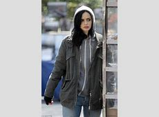 Kristen Ritter films A.K.A. Jessica Jones in a pile of bin ... Jessica Jones