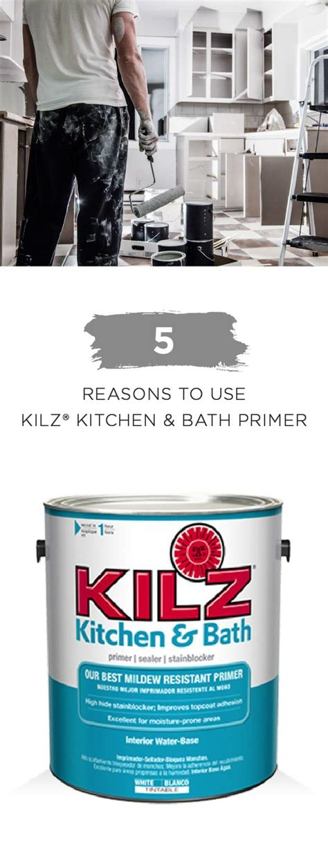 bathroom primer use kilz kitchen bath primer to protect a variety of