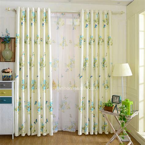 butterfly bedroom curtains lively butterfly and beautiful floral patterns beige
