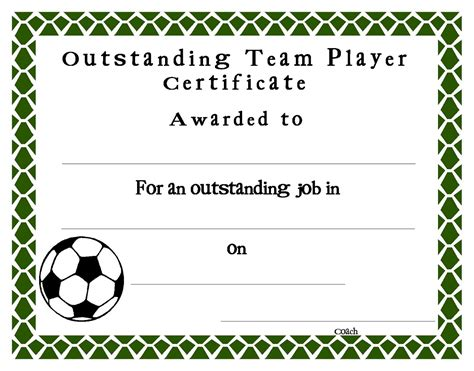 Soccer Award Certificates Template Kiddo Shelter Soccer Award Template