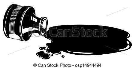 spilled ink bottle clipart