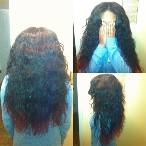 partial curly weave partial sew in body wave brazilian hair done by me hair