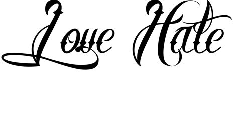 love tattoo png image gallery love hate tattoo designs