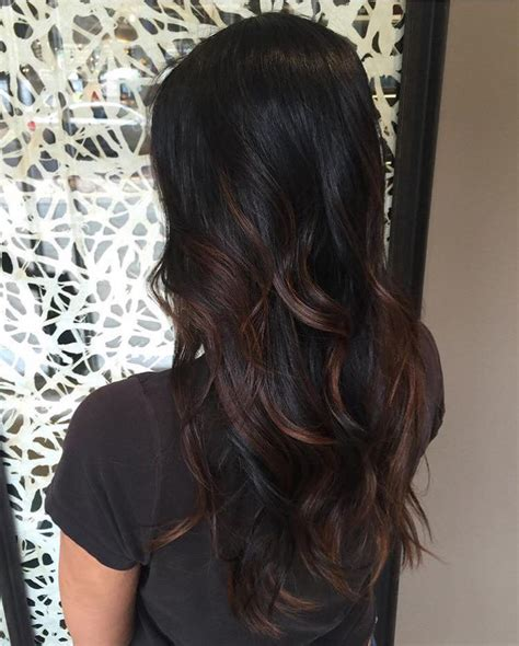 what is good highlight for dark hair to hide grey balayage highlights on dark brown hair brown hairs