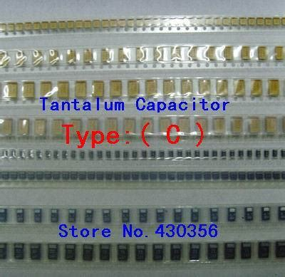 tantalum capacitor type c 10pcs tantalum capacitor 6032 type c 107 100uf 10v in capacitors from electronic components