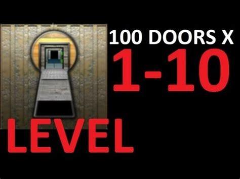 100 doors underground level 13 walkthrough youtube 100 doors x level 1 10 walkthrough solution door 1 2 3 4 5