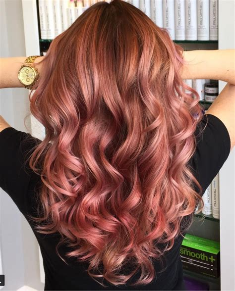 rose gold hair dye dark hair rose gold hair color ideas 2017 to try right now