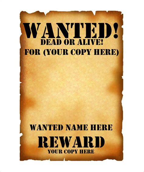 Wanted Poster Template Psd