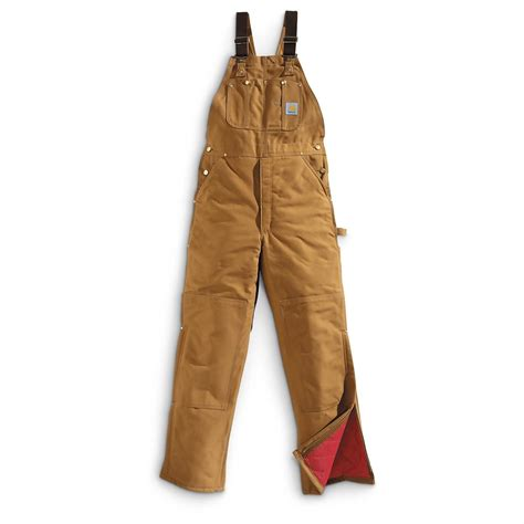 Carhartt Quilt Lined Duck Coveralls by Carhartt S Quilt Lined Duck Bib Overalls 635649