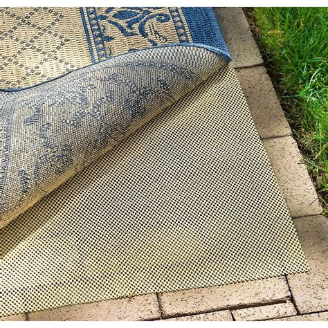 Outdoor Rug Pads Safavieh Outdoor Creme 9 Ft X 12 Ft Non Slip Rug Pad Pad140 9 The Home Depot