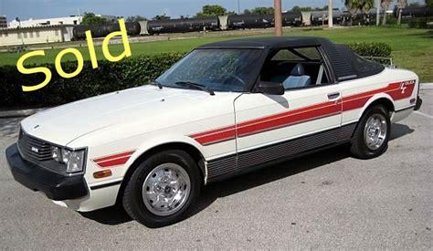 Toyota Celica Sunchaser 1981 Toyota Celica Sunchaser Targa Griffith