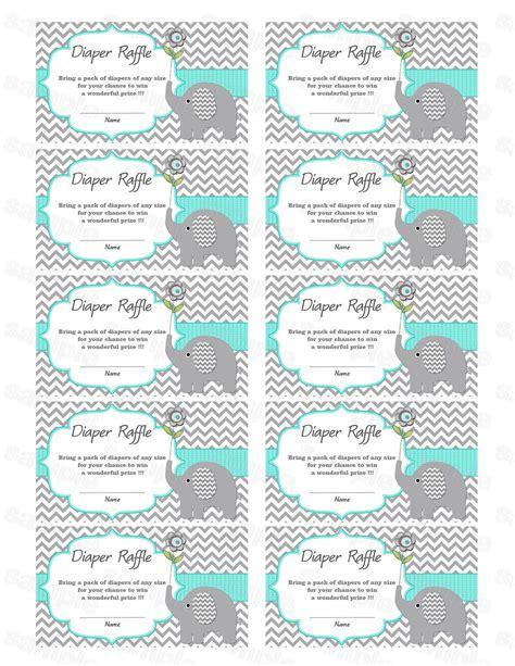 baby shower raffle tickets template elephant baby shower raffle ticket raffle card