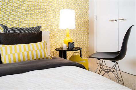black white and yellow bedroom trendy table ls that borrow from an era by