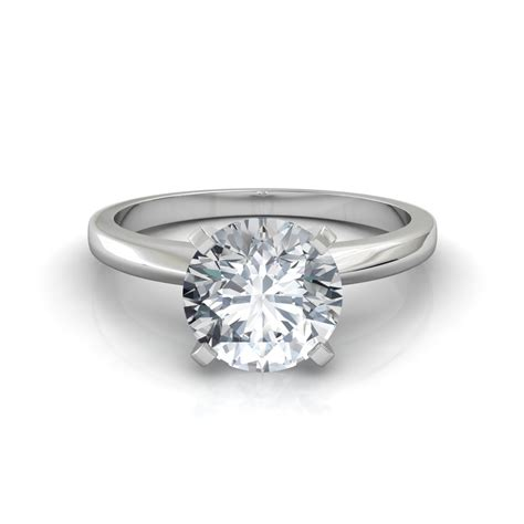 Solitaire Engagement classic 4 prong solitaire engagement ring natalie diamonds