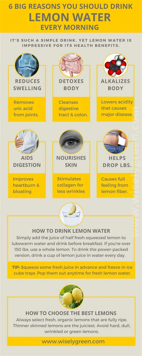 How Often To Drink Lemon Detox Water by Best 25 Lemon Water Ideas On Lemon