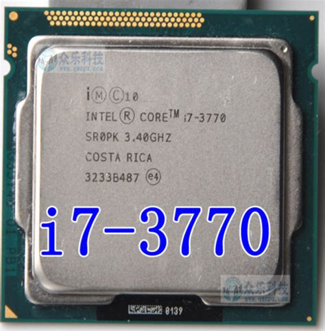 Intel I7 3771 intel i7 3770 i7 3770 3 4ghz 8m 5 0gt s lga 1155 sr0pk cpu desktop processor in stock can