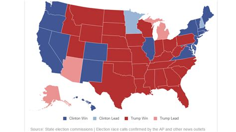 us general election results map u s election 2016 live results and trends news 95 7