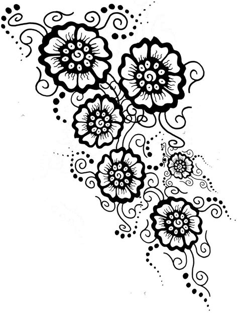black and white henna tattoo designs mehndi designs drawings viewing gallery coloring