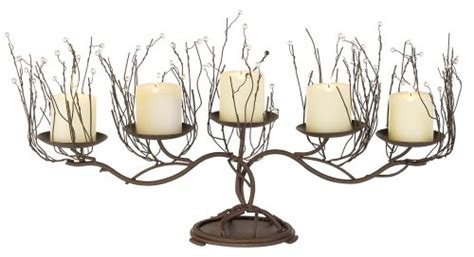 Iron Candelabra Centerpieces Twig And Beads Candelabra Twig Candle Holder Centerpiece
