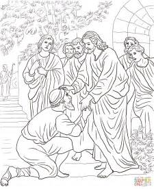 coloring pages jesus heals leper jesus heals the leper coloring page free printable