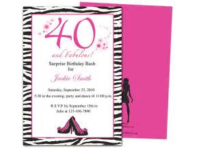 40th invitation templates invitation templates 40th birthday http