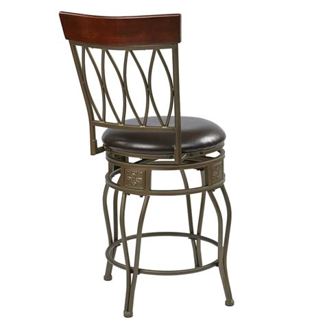 office bar stools office star cosmo 24 quot metal swivel counter stool in