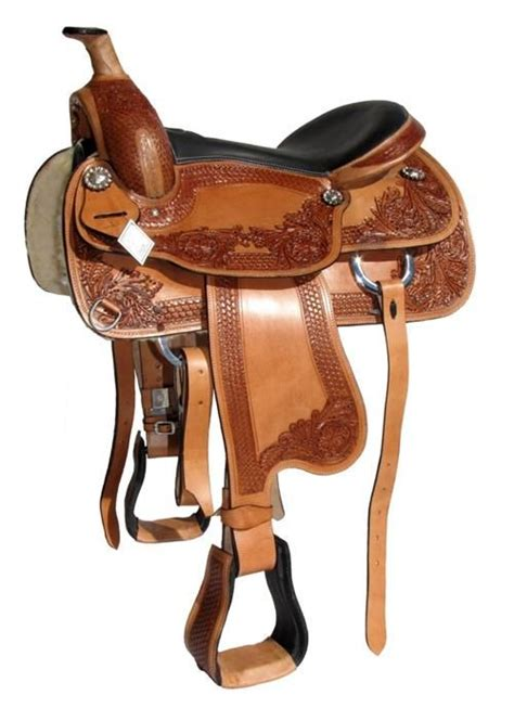 horse saddle 17 quot brown leather western horse saddle quot scout quot 6 5 quot gullet