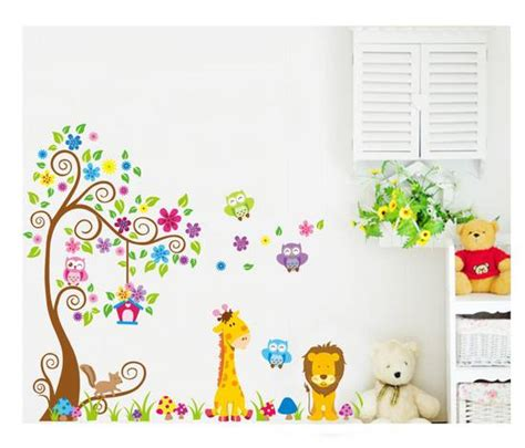 Wall Stickers Bambini by Wall Sticker Adesivi Albero Animali Bambini Decoro Murali