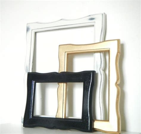 modern wall picture frames wall hanging photo frames in black gold and antique white