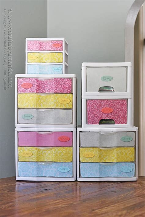 Makeover: Plastic Storage Drawers   Crafts by Amanda