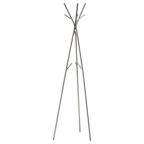 ikea coat racks knippe hat and coat stand nickel plated 170 cm ikea