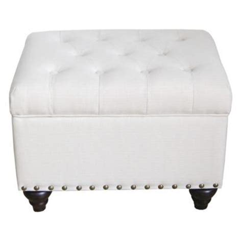 Ottomans At Target Ivory Tufted Storage Ottoman Bench With Nailhead Target