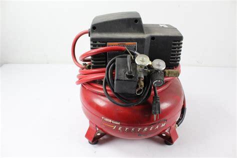 porter cable cf jetstream air compressor property room