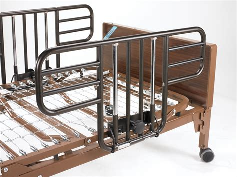 side rails for beds drive no gap deluxe half length side bed rails w brown