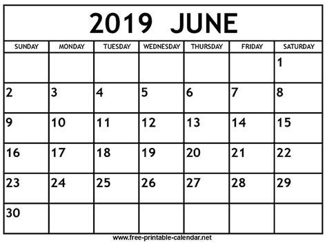 june  calendar print calendar   printable