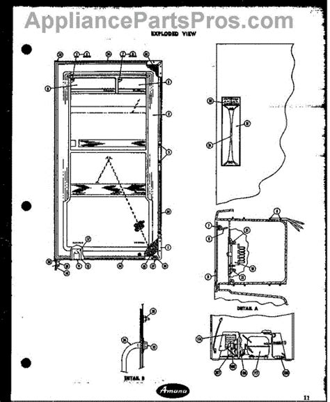 amana refrigerator parts diagram parts for amana r15a exploded view parts