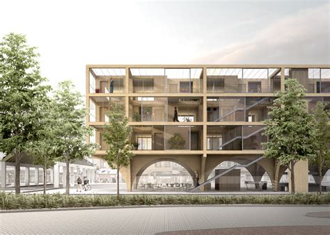 housing markets jaja wins second prize for swedish housing and market hall hybrid archdaily