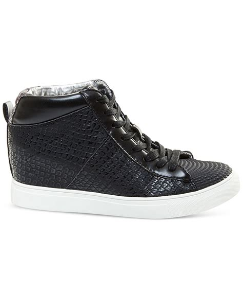 Lace Up High Top Sneakers lyst madden superstud lace up wedge high top