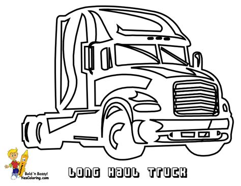 coloring page big truck free coloring pages of peterbilt big truck