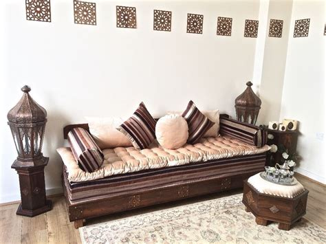 Luxurious Moroccan Sofa Bench, Daybed, 3 Seater, Couch