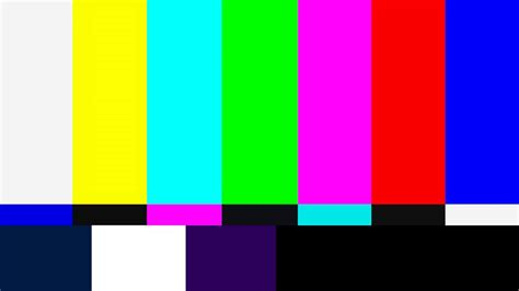 screen color tv colour bars test card screen with sine tone in 4k