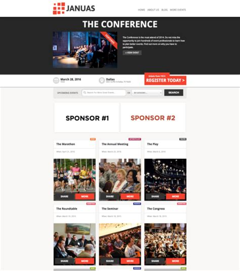 wordpress homepage layout manager introducing januas a multiple event wordpress theme
