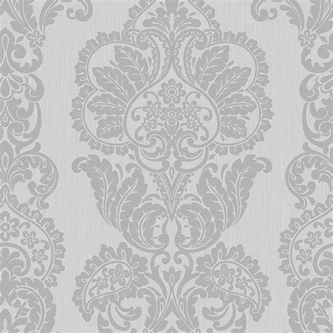 grey patterned glitter wallpaper fine decor rochester damask textured glitter wallpaper